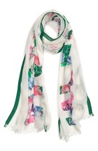 NEW Kate Spade New York In Full Bloom Floral Scarf Cream Multi - $74.24
