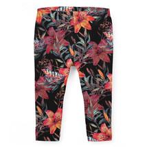 Mysterious Tropical Flowers Girls Leggings - $37.99+