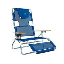 Folding Beach Chair Blue Lightweight Recliner Lounge Camping Picnic Port... - $92.04