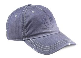True Religion Men's Vintage Distressed Cotton Horseshoe Trucker Hat Cap TR2095 image 12