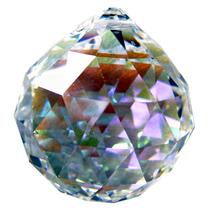 Swarovski Crystal Faceted Ball (50mm, Aurora Borealis) image 1