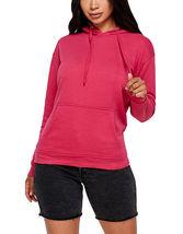Women's Soft Lightweight Pull Over Sweatshirt Casual Drawstring Hoodie Sweater image 6