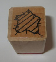 Star Rubber Stamp Close To My Heart Stripes Wood Mounted  - $3.46