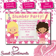 Personalised Kids Birthday Party Pyjama Party Slumber Party Invitations ... - $1.28+