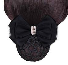 Black Series Hair Net Bowknot Hair Clips Hair Accessories 2 pieces, NO.001 - $323,33 MXN