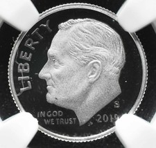 2019 S Silver Proof Roosevelt Dime NGC PF69  First Day .999 Coin SKU C40 image 2