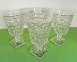 Imperial Glass CAPE COD Low Water Goblet (s) LOT OF 4 - $21.73