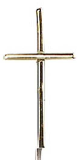 Cross   14 kt gold medal pendant    no chain   0014s