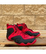 Nike Zoom Rookie University Red Black MEN'S HI-TOP BASKETBALL SNEAKER BQ... - $115.00
