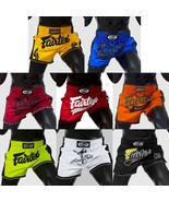 FAIRTEX BS170X Series SHORTS SLIM CUT Martial Arts Sport COLORS MUAY THA... - $46.40