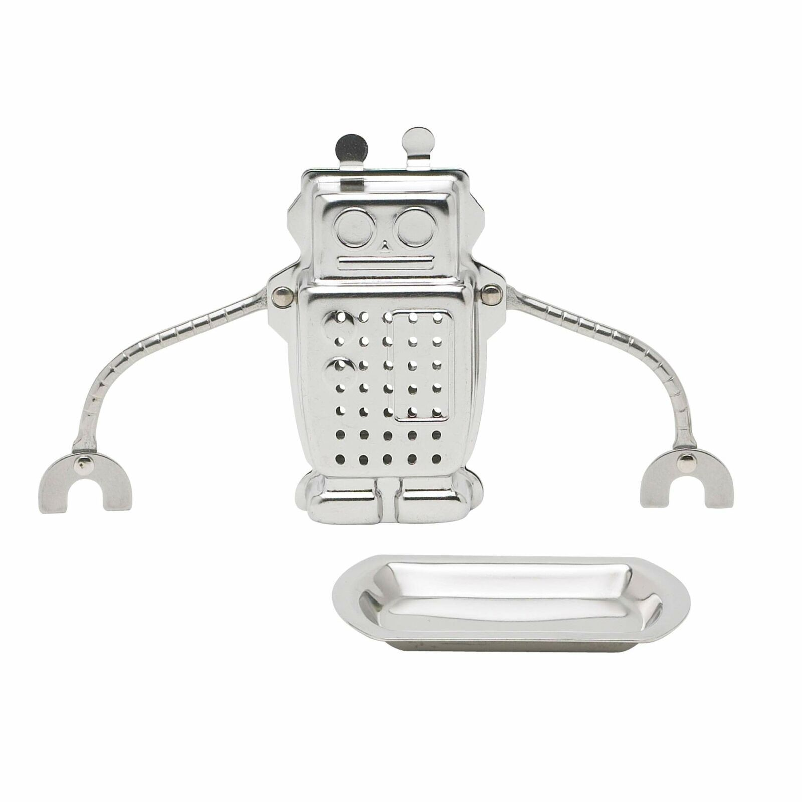 HIC Tea Infuser, Hangin' Dunkin' Droid Robot with Drip Tray, Stainless Steel - $10.05