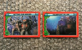 1991 Topps Teenage Mutant Ninja Turtles TMNT II Movie Cards Lot: #46 & #47 - $3.92