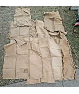 VTG LOT of 12 Burlap Sacks Bags Bag Sacks Lot - £47.58 GBP