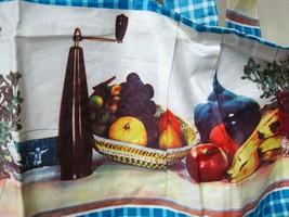 Kitch Super Ugly Photo Fabric Full Bib Apron Fruit Wine Bottles Wine Gla... - $18.32