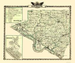 Randolph Illinois Landowner - Warner 1870 - 23 x 27.30 - $36.95+