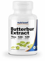 Nutricost Butterbur Extract Capsules 75mg 120 Capsules - Gluten Free and Non-GMO