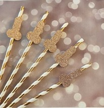 Bachelorette Straws, Rose Gold Penis Straws, bachelorette party deco 10 Ct - $9.05