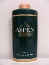 Vintage Aspen Talc 2 Oz. Tin By Coty Men Fragrance Perfume Cologne Body Powder - $24.99