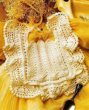 X534 Crochet PATTERN ONLY Antique Look Baby Bib Pattern - $7.50