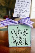 Verse Of The Week Card Holder - Free shipping - aqua - scripture memory ... - $16.00