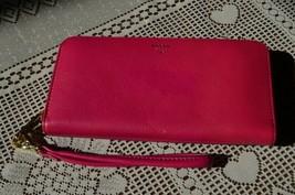 SALE-EMMA FOSSIL  PINK COWHIDE BI-FOLD CLUTCHED WALLET W/WRIST STRAP-MSR... - $38.61