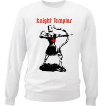 KNIGHT TEMPLAR  38 - NEW WHITE COTTON SWEATSHIRT - $30.65