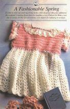 X548 Crochet PATTERN ONLY Little Girl's Easter Dress Pattern - $7.50