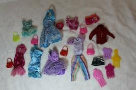"Barbie Lot 21 Pieces Clothing Dresses Combs Purses Fits 11.5"" Dolls - $26.72"