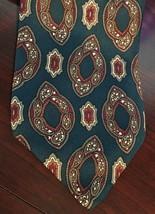 """Tom James Vintage Logo Necktie Tie 57"""" 145cm 4"""" 10cm 100% Silk Blue - $27.72"""