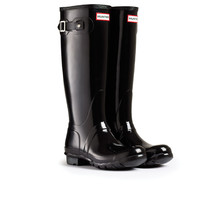 HUNTER ORIGINAL TALL GLOSS BLACK WELLINGTON BOOTS Welly BRAND NEW WITH TAG - $2.199,15 MXN