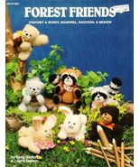 X558 Crochet PATTERN ONLY Forest Friends Toy Raccoon Squirrel Bunny Beaver - $19.50