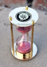 Handmade Nautical Shiny Brass Sand Timer Marine Sand Timer Desktop Gift - $12.20