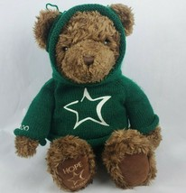 "Gund Millennium Hope Bear 25"" Plush Brown Teddy Green Sweater Hoodie 2000  - $21.77"
