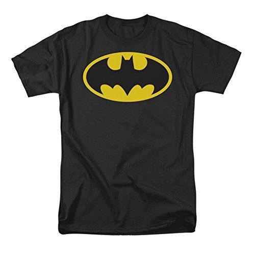 DC Comics Batman Men's Classic Logo Tee Shirt, XL