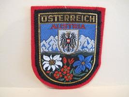 AUSTRIA Patch Osterreich Souvenir Crest Emblem Sew On  - $5.99