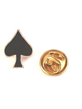 spades cards suit tie pin,lapel pin, badge in gift box, cards, tieclip, tie hold