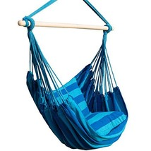Bormart Hanging Rope Hammock Chair Large Cotton Weave Porch Swing Seat C... - $37.16