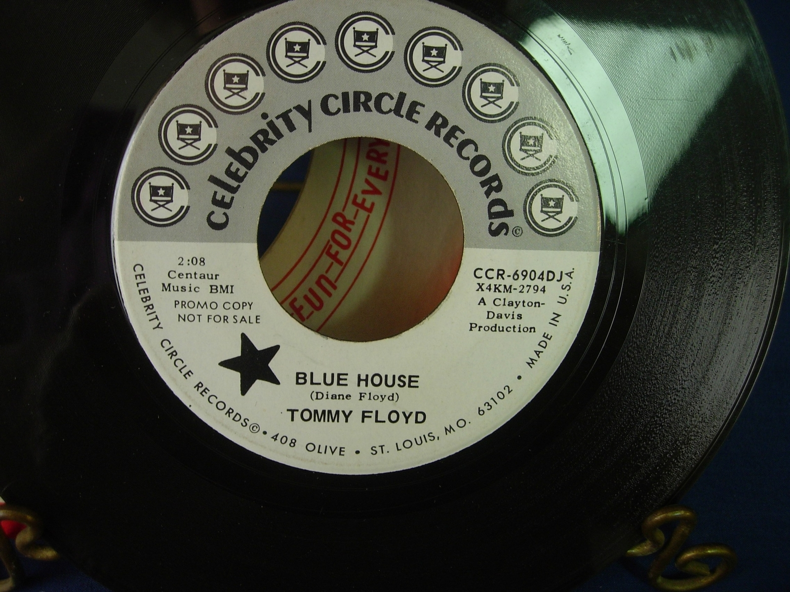Tommy Floyd - Blue House / Bad Dreams, Big Tears - PROMO - Celebrity CCR-6904DJ