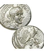 MACRINUS only Ruled 1 Year Silver Tetradrachm AU Eagle Ancient Empire Ro... - $350.10