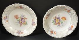 "Two Schumann Bavaria 10"" Bowls #SCH26 Dresden Flowers - $37.99"