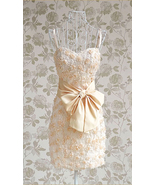 SALE Romantic Roses Sweet Heart Ivory Cocktail Dress. Blush Pink Evening... - $79.90