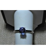 Zandrite Solitaire Ring 10k and Sterling Silver... - $90.00