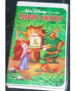 Robin Hood - Walt Disney Classic - Gently Used VHS Video - VGC - CLAMSHELL - $7.91