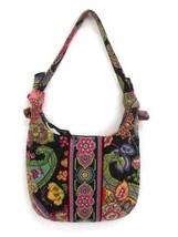 Vera Bradley 100% Cotton Quilted Handbag Small Purse Floral - $17.82