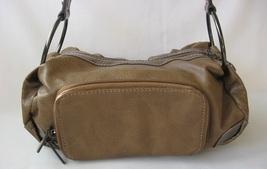 Brown leather handbag bag purse satchel thumb200