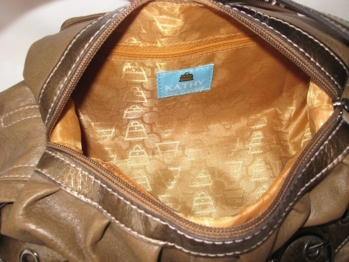 Designer Handbag Purse Shoulder Bag KATHY VAN ZEELAND Brown