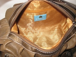 Leather bag handbag satchel designer brown thumb200