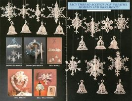 X640 Crochet PATTERN ONLY Snowflakes & Bells Christmas Ornaments - $13.50