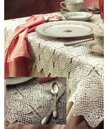X641 Crochet PATTERN ONLY Lacy Kismet Tableclot... - $7.45