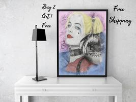 Harley Queen Art Print-Harley Queen Print-Harley Queen Gift-Sketch Print... - $11.82